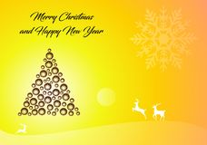 Merry christmas and happy new year holiday traditional Wallpaper Stock Photography