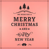 Merry Christmas. Happy new year, Holidays, Vintage Royalty Free Stock Images