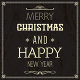 Merry Christmas. Happy new year, Holidays, Vintage Stock Image