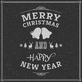 Merry Christmas. Happy new year, Holidays, Vintage Royalty Free Stock Photography