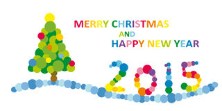 Merry Christmas. And Happy New Year 2015 illustration Stock Images