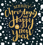 Merry christmas and happy new year illustration Stock Photo