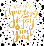 Merry christmas and happy new year illustration Royalty Free Stock Image