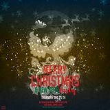 Merry Christmas and Happy New Year. Illustration with Phoenix, Happy New Year wish and Santa Claus vector illustration