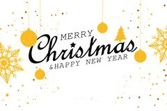 Merry Christmas and Happy New Year illustration vector illustration