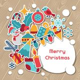 Merry Christmas and Happy New Year invitation card Royalty Free Stock Photo