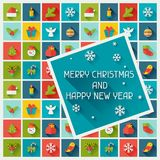 Merry Christmas and Happy New Year invitation card Stock Photo