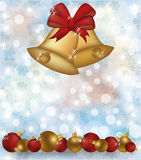Merry Christmas and happy new year invitation card royalty free illustration