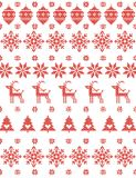 Merry Christmas & Happy New Year Knitted Greeting background. Vector illustration Knitted Greeting card to X-mas party White,red colors Flat style stock illustration