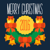 Merry Christmas and Happy new year 2016 Royalty Free Stock Images