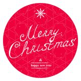 Merry Christmas and Happy New Year lettering template. Greeting Royalty Free Stock Photography