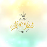 Merry Christmas and Happy New Year. Lettering. Vector. Abstract Geometric Background Royalty Free Stock Photography