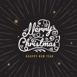 Merry Christmas, happy new year, logo & symbol design, gold, vec. Tor illustration vector illustration