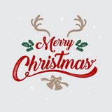 Merry Christmas, happy new year, logo & symbol design, vector il stock illustration