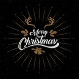Merry Christmas, happy new year, logo & symbol design, vector il. Merry Christmas, happy new year, logo & symbol design, Gold , vector illustration royalty free illustration