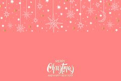 Merry Christmas and Happy New Year luxury gold pattern on blue background with stars and holiday elements. Merry Christmas and Happy New Year luxury gold Stock Images