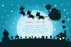 Merry Christmas, Happy new year, Merry Christmas design with wide copy space, Santa Claus,card, background card greeting,. Vector Illustration Royalty Free Stock Photography
