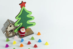 Merry Christmas and Happy New Year,Merry Christmas and Happy New Year,Christmas tree Simulate on whit background Stock Photo