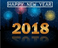 Merry christmas and Happy new year 2018 Stock Image