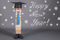 Merry Christmas and Happy New Year!. School joke Royalty Free Stock Image