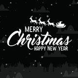 Merry christmas and Happy new year. Vector vector illustration