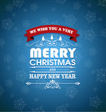 Merry Christmas. And Happy new year message Royalty Free Stock Photos