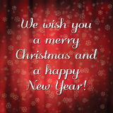 Merry Christmas and happy New Year message Stock Images