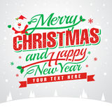 Merry Christmas and Happy New Year!. Merry Christmas and happy new year message, Vector illustration Eps 10. greeting card or invitation. also included large jpg Stock Photo