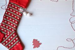 Merry Christmas and Happy New Year. Minimalism background. stock images