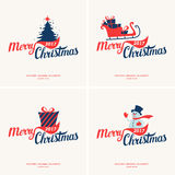 Merry Christmas and Happy New Year. 2017. Merry Christmas and Happy New Year. Modern hand drawn lettering phrase. Calligraphy brush and ink. Handwritten vector illustration