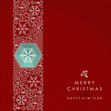 Merry Christmas and Happy New Year monogram card Royalty Free Stock Image