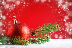 Merry Christmas and Happy New Year. A New Year`s background with New Year decorations, Background with copy space. Stock Photo