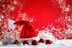 Merry Christmas and Happy New Year. A New Year`s background with New Year decorations, Background with copy space. Royalty Free Stock Photos