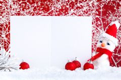 Merry Christmas and Happy New Year. A New Year`s background with New Year decorations, Background with copy space. Stock Image