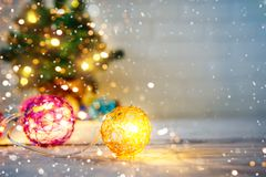 Merry Christmas and Happy New Year. A New Year`s background with New Year decorations.New Year`s card. Merry Christmas and Happy New Year. A New Year`s Royalty Free Stock Photos