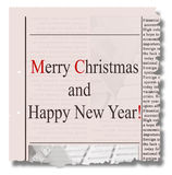 Merry christmas  and happy new year  newspaper Stock Images