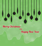 Merry christmas and happy new year with ornaments Royalty Free Stock Photo