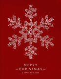 Merry christmas happy new year outline snow. Merry Christmas Happy New Year 2016 greeting card background. Linear winter snowflake with monogram decoration Royalty Free Stock Images