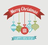 Merry christmas and happy new year. Over blue background vector illustration vector illustration
