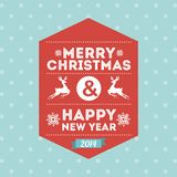 Merry christmas and happy new year. Over dotted background  vector illustration royalty free illustration