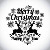 Merry christmas and happy new year. Over gray background vector illustration vector illustration