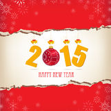 Merry christmas and happy new year paper Stock Photography