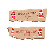 Merry christmas and happy new year paper dripper banner Royalty Free Stock Photos