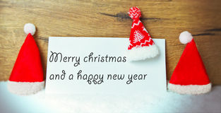 Merry christmas and a happy new year Stock Images