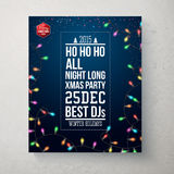Merry Christmas and Happy new year party poster. Stock Image