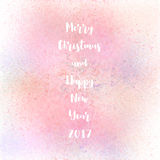 Merry Christmas and happy new year 2017. On pastel spray background vector illustration