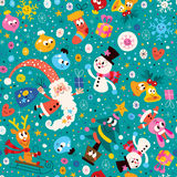 Merry Christmas and Happy New Year pattern Stock Image