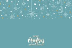 Merry Christmas and Happy New Year pattern with stars. Merry Christmas and Happy New Year luxury gold pattern with stars and holiday elements in trendy geometric Stock Photography