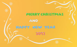 Merry christmas and happy new year 2013. Postcard, background - merry christmas and happy new year 2013 Vector Illustration