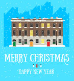 Merry Christmas and Happy New Year postcard Stock Photos